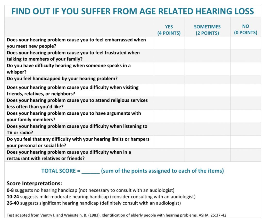 Age Related Hearing Loss: Symptoms, Causes, Treatment