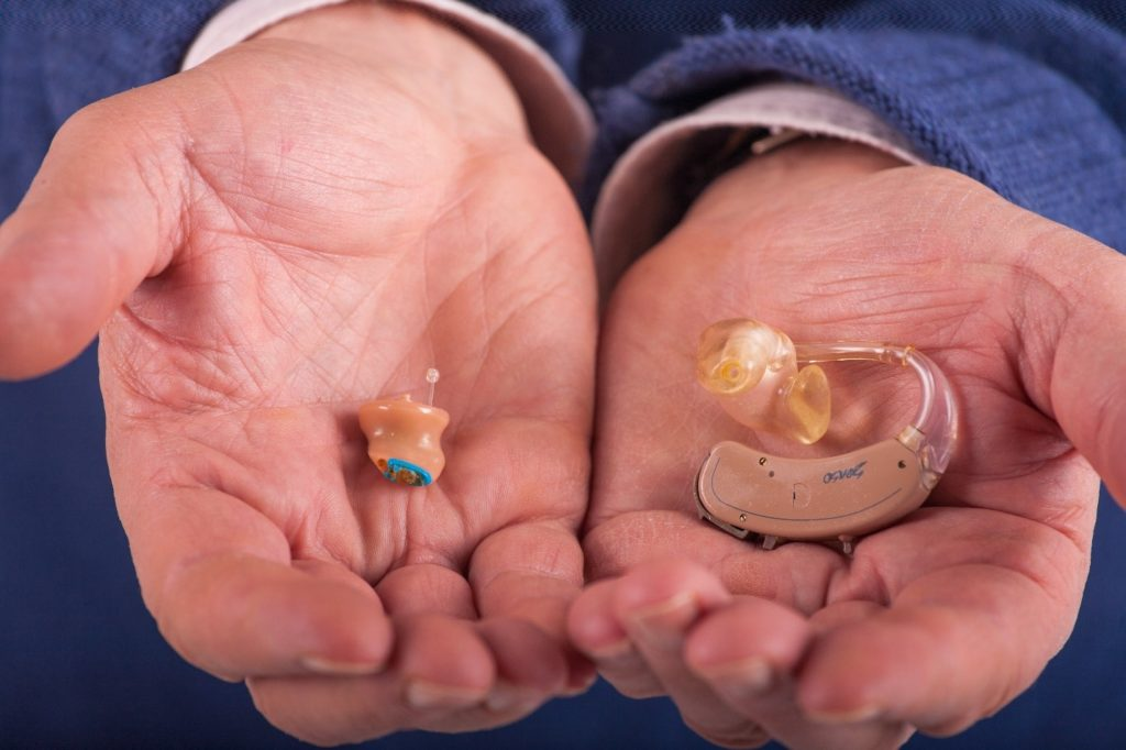 BTE and ITC are the main types of hearing aids